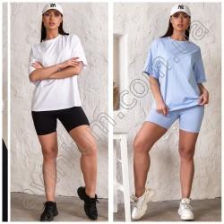 Женский костюм с велосипедками Батал 15065A