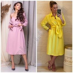 Женский летний костюм платье с рубашкой 15094A