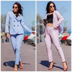Женский костюм пиджак с брюками 15109A