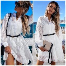 Нарядное летнее платье-двойка 15137A