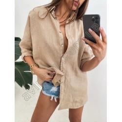 Женская льняная рубашка 15159A