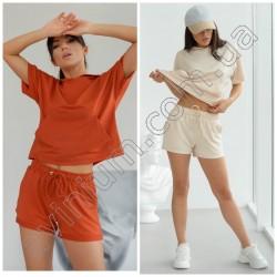 Женский костюм футболка с шортами 15165A