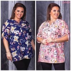 Женская цветочная блуза Батал 15197A