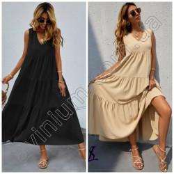 Длинное летнее платье с воланами 15234A