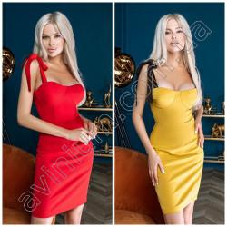 Облегающее платье на бретельках 15472A