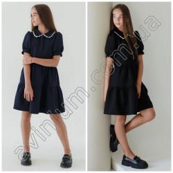 Детское школьное платье с воротником 15564A