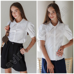 Детская школьная блуза 15565A