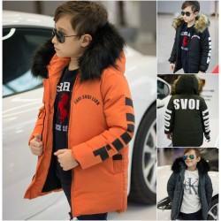 Подростковая куртка с мехом на капюшоне 12007A