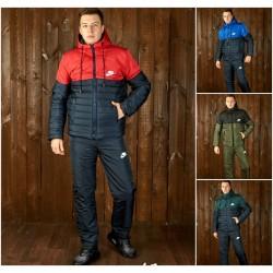 Мужской теплый костюм плащевка 12056A