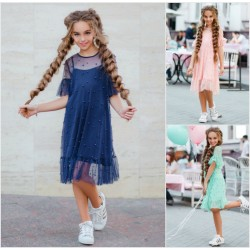 Подростковое платье с жемчугом 12699A