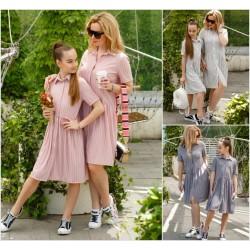 Подростковое платье-рубашка в полоску 12704-1A