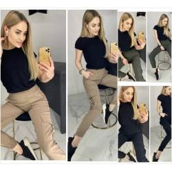 Женские джинсовые брюки с карманами 12368A
