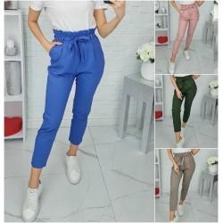 Женские льняные брюки с карманами 13089A