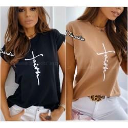 Женская футболка с надписью 13091A