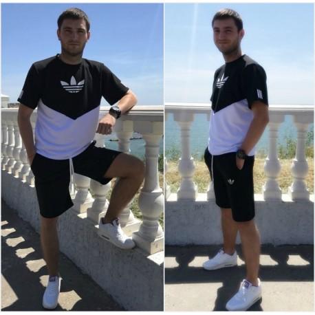 Мужской костюм футболка с шортами 13127A