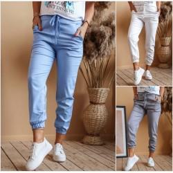 Женские льняные брюки с карманами 13372A