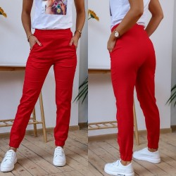 Женские льняные брюки с карманами 13420A